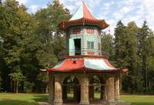 Čínský pavilon, park Vlašim