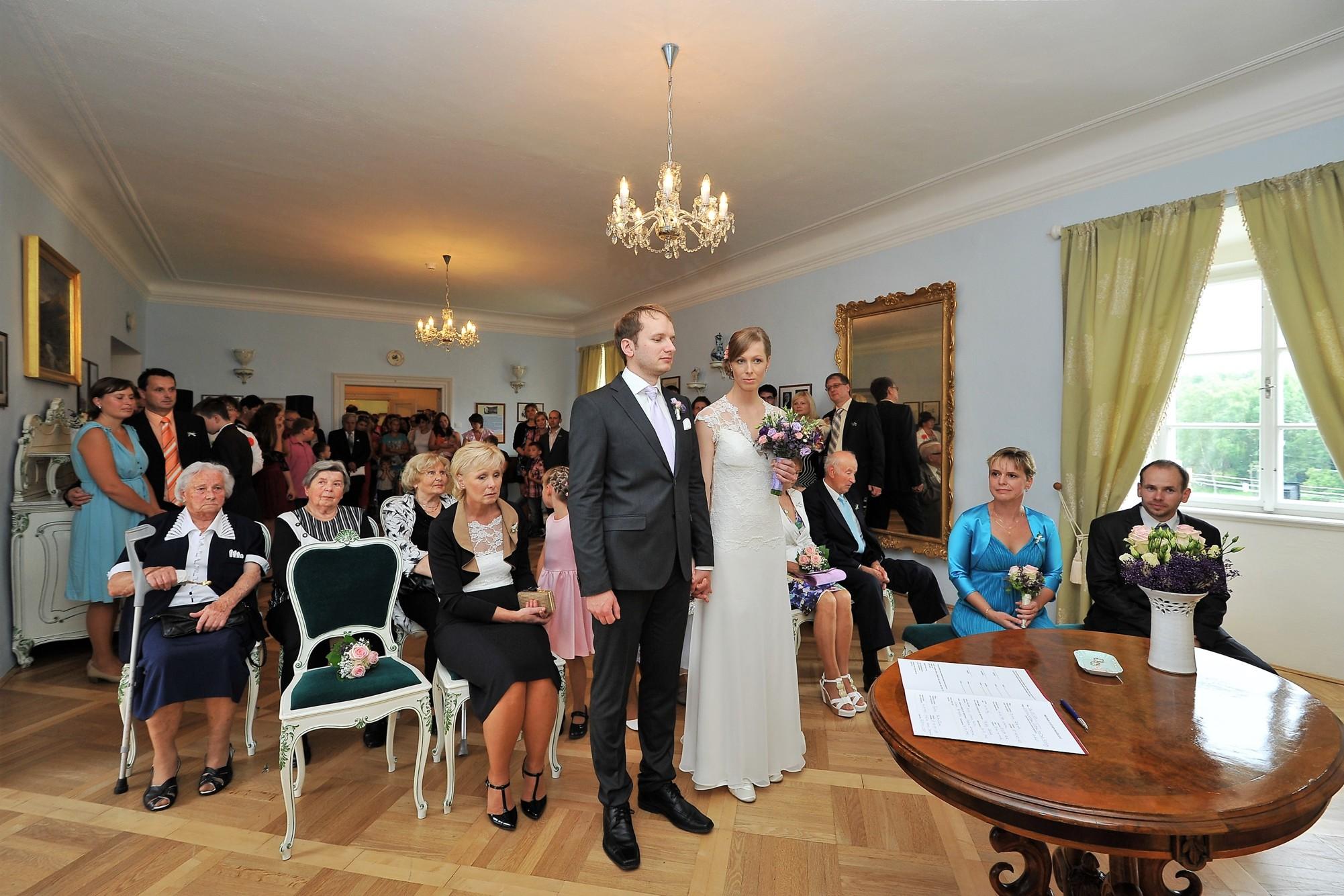 Svatba v zámku Růžkovy Lhotice.