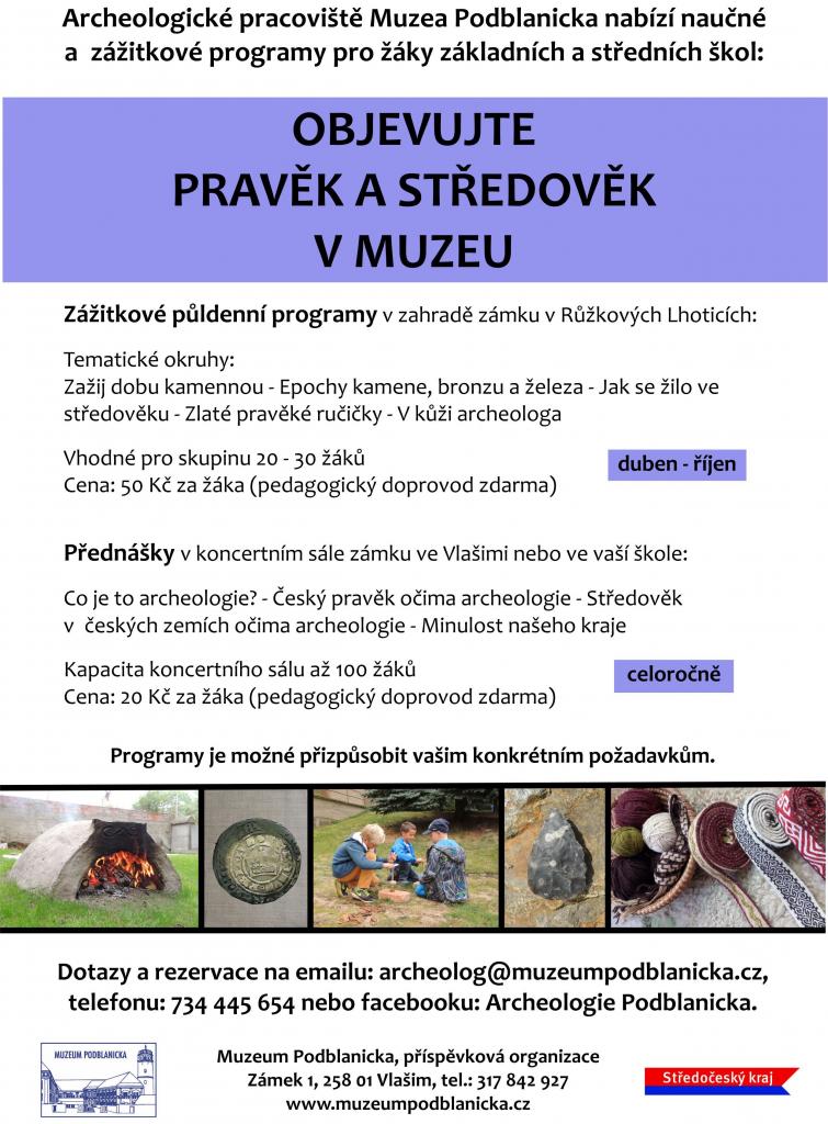 Edukace archeologie, plakát