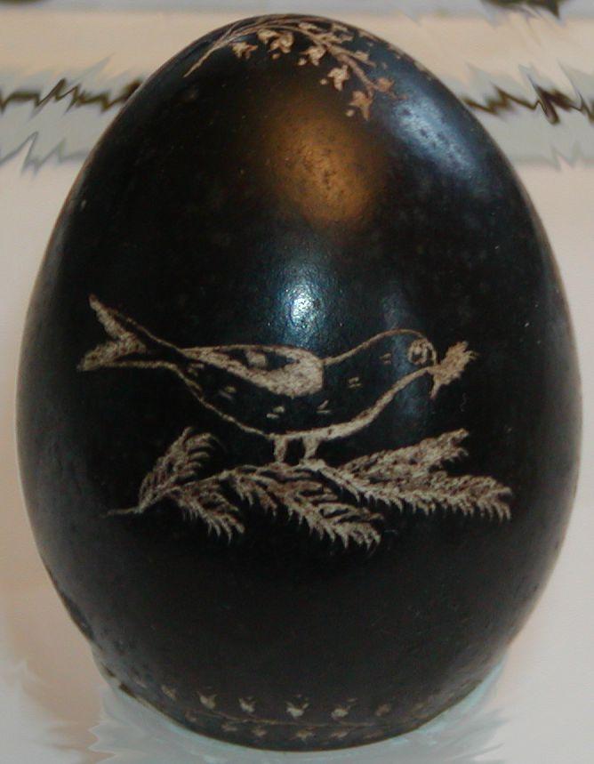 Velikonoční vejce plné, z roku 1895, sbírka Muzea Podblanicka