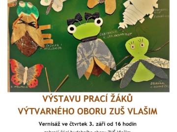 Výstava ZUŠ Vlašim, plakát